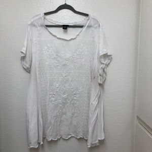 Torrid Embroidered Flowy Top